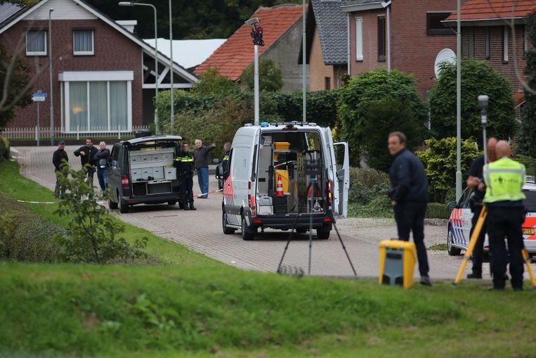 Onderzoek op de locatie waar een verdachte door de politie is doodgeschoten Beeld ANP