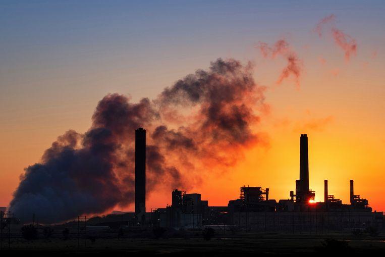 Een kolencentrale in de Amerikaanse staat Wyoming.