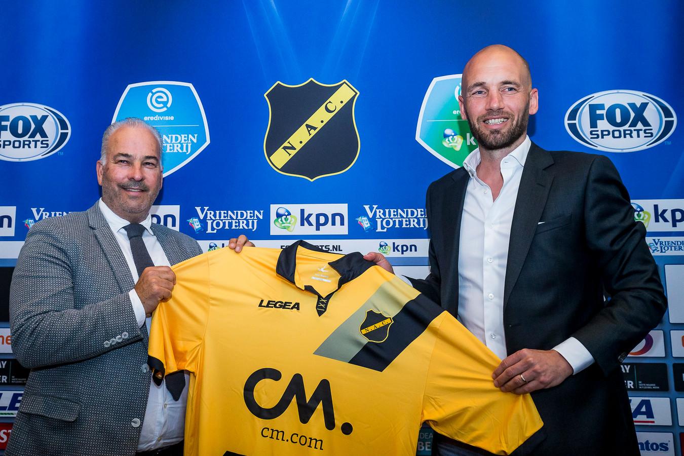 Hans Smulders (links) met Mitchell van der Gaag.