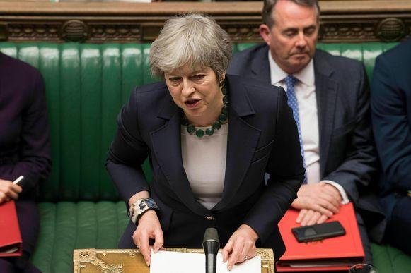 De Britse premier Theresa May