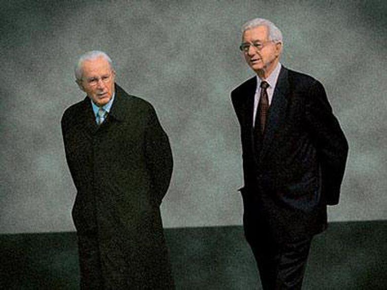 Aldi-broers en -stichters Karl en Theo Albrecht, inmiddels beiden overleden.
