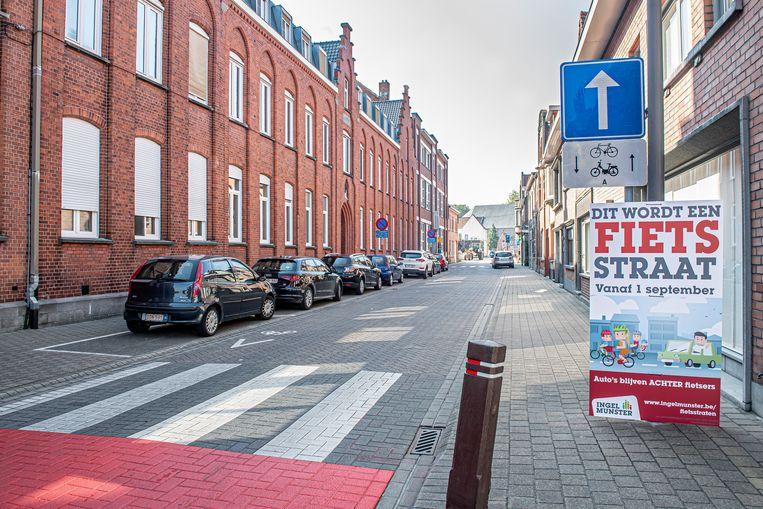 Ook de Schoolstraat is voortaan een fietsstraat.