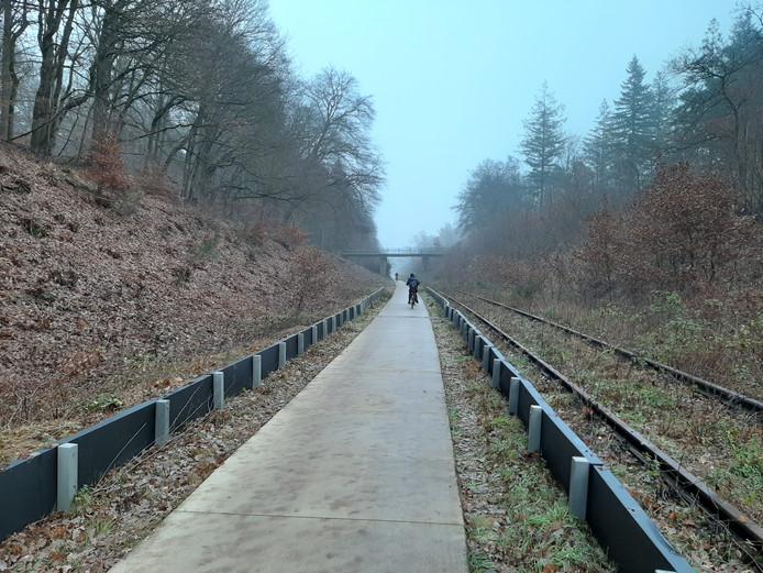 De schermen langs het fietspad in de spoorkuil moeten uitgebreid worden, vindt WMG.