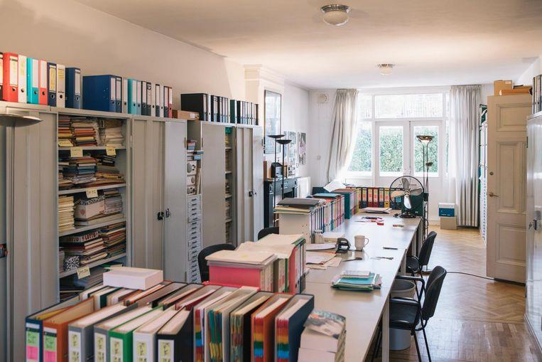 De werkkamer van Van der Heijden. Beeld Marcel Wogram