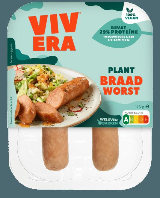 De plantaardige braadworst van Vivera.