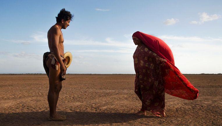 Scène uit Pájaros de Verano, een familietragedie die zich afspeelt binnen de Wayuu-gemeenschap in Noord-Colombia. Beeld .