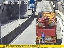 Pony in de tunnelbak van Salland-Twentetunnel leidt tot lange file