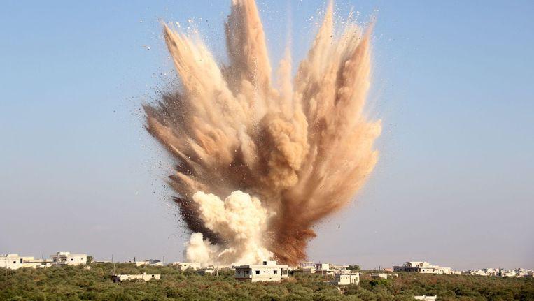 Bombardementen in Foua in augustus Beeld afp