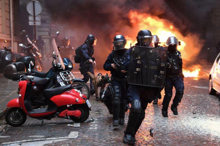 Ook in Parijs ging het er stevig aan toe.
