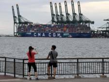 Rotterdam verwelkomt 's werelds grootste vrachtschip op gas: 'Een enorme mijlpaal'