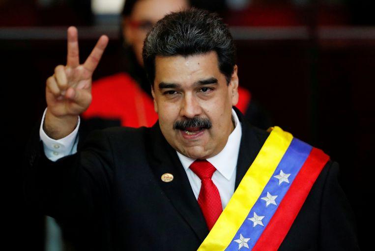 Nicolas Maduro werd op 10 januari opnieuw ingezworen als president van Venezuela. Beeld REUTERS
