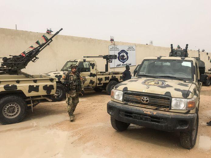 Materiaal dat door regeringstroepen zou zijn buitgemaakt op de troepen van Haftar.