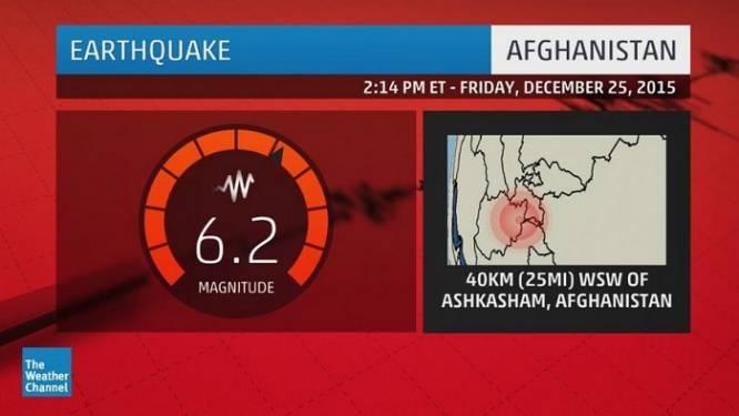 Zware aardbeving treft Afghanistan