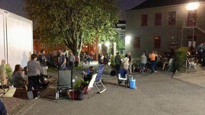 Ruim 150 ouders kamperen aan college