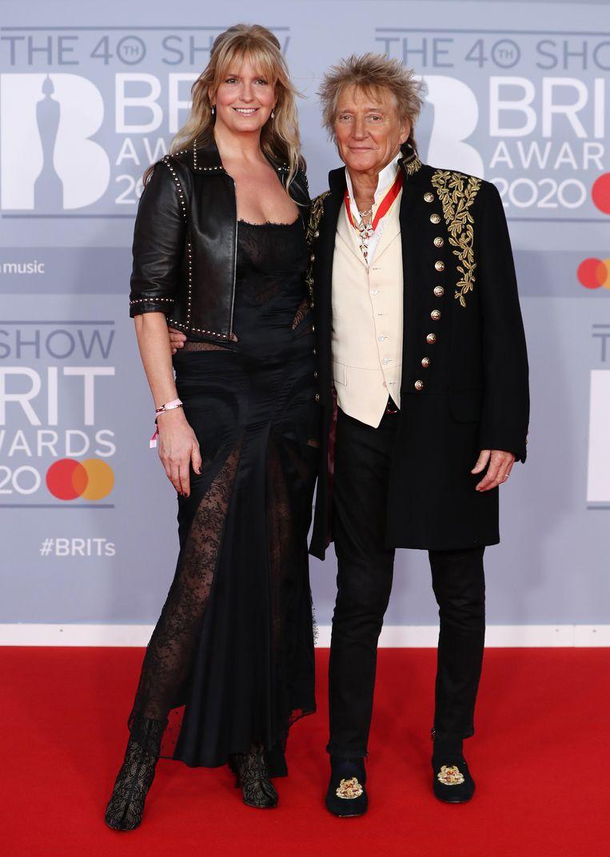 Rod Stewart en Penny Lancaster