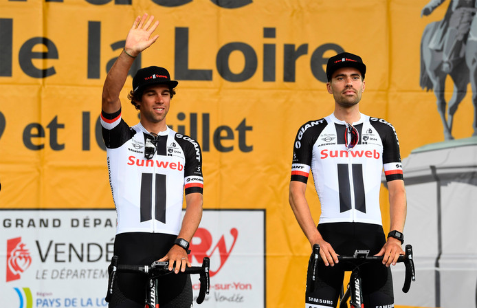 Michael Matthews en Tom Dumoulin.