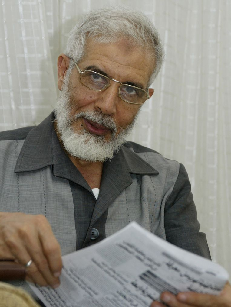 Mahmout Ezzat, de plaatsvervangende leider van de Moslim Broederschap. Beeld null