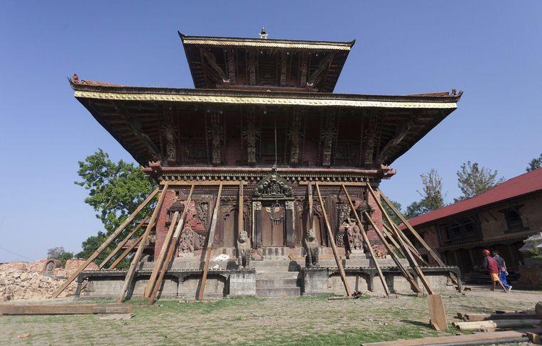 De Changunarayan tempel in Bhaktapur. Beeld epa