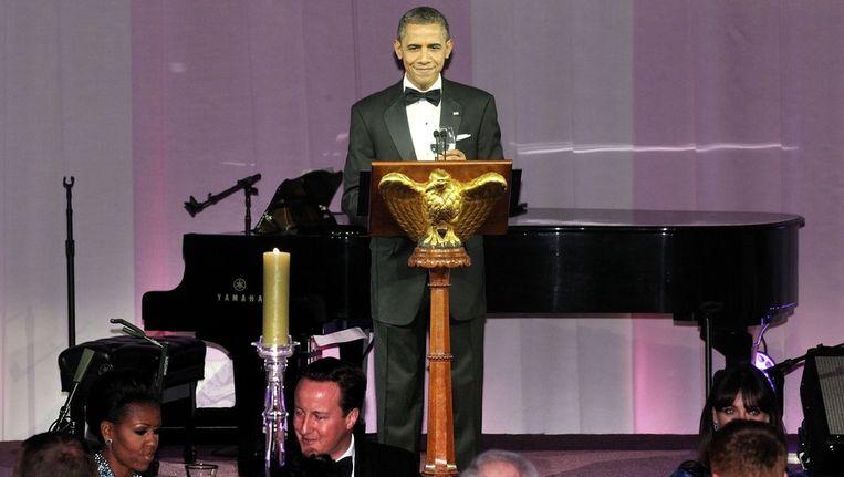 President Obama ontving gisteravond de Britse premier Cameron. Beeld null