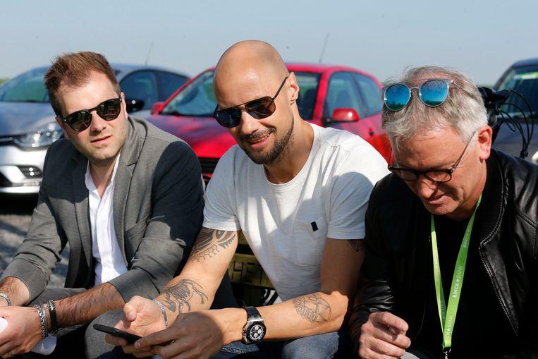 Niels Albert, Tom Boonen en Marc Degryse.