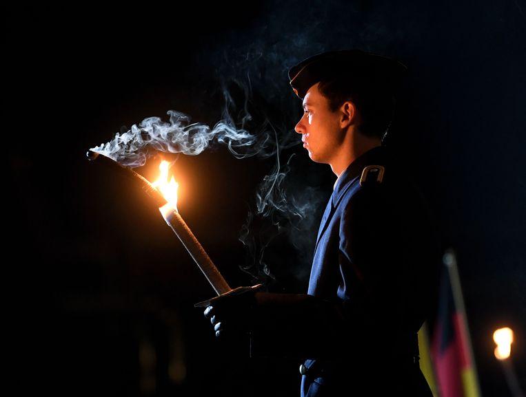 De ceremonie in München. Beeld Christof Stache / AFP