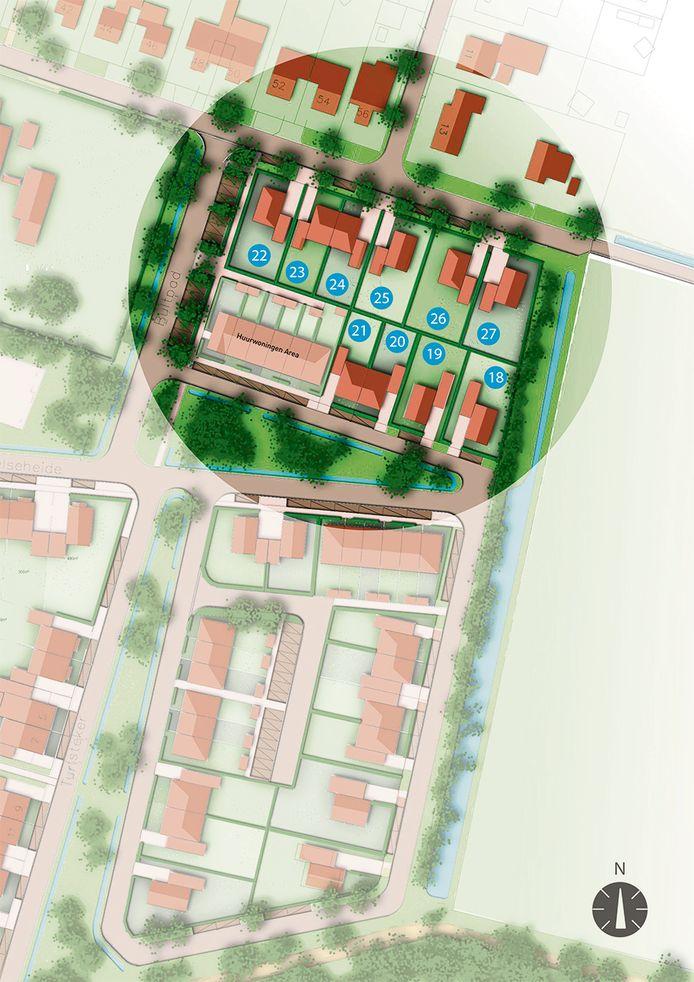Zo liggen de laatste tien kavels in het plan Spechtenlaan in Odiliapeel. Inschrijven kan vanaf 1 november.