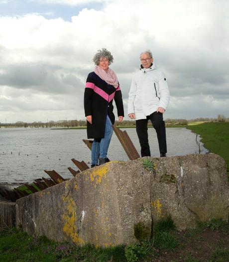 Tankversperring uit WOII in Groessen wordt monument