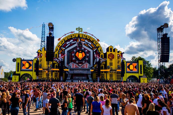 Het festivalterrein tijdens een eerdere editie van Decibel Outdoor.