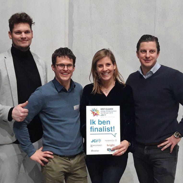 Gunther Ghysels, Niels Syx, Valérie Lemahieu en Pieter Lefevre maken kans op de titel West-Vlaamse Jonge Ondernemer 2019.