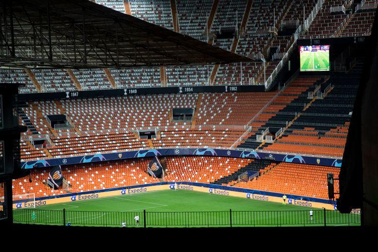 De terugmatch in het Mestalla werd wel achter gesloten deuren gespeeld.  Het duel zou op 4-3 eindigen, waardoor Atalanta ook in de kwartfinale zit. Al is hoogst onzeker of die ooit nog gespeeld wordt.