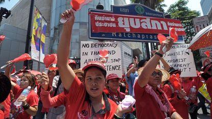 Opnieuw duizenden betogers tegen Thaise regering