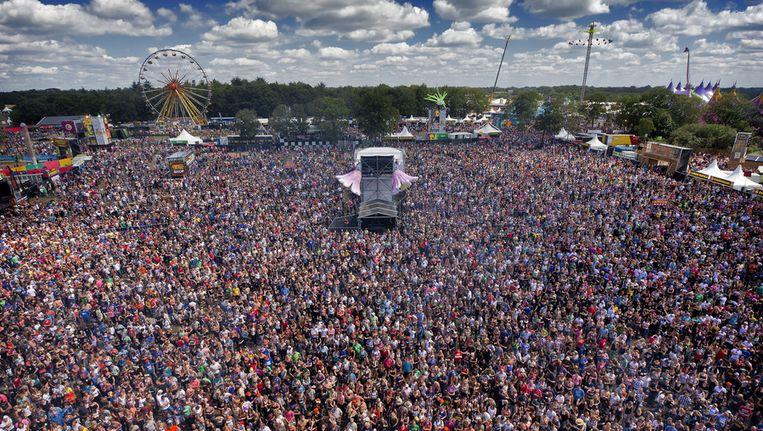 Zee van mensen tijdens het festival Zwarte Cross Beeld anp