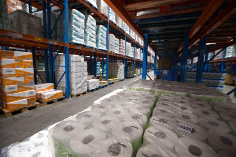 Distributiecentra hebben meer dan genoeg wc-papier op voorraad. Beeld BELGA