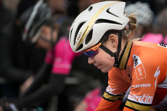 Anna van der Breggen tijdens de Ronde van Gerwen.