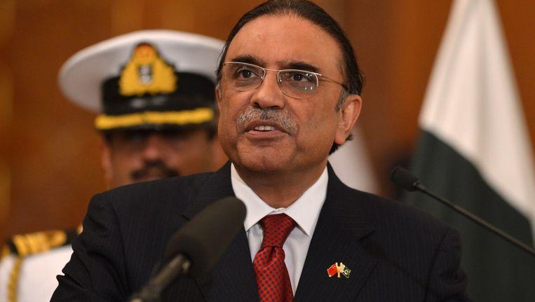 De Pakistaanse president Asif Ali Zardari. Beeld afp