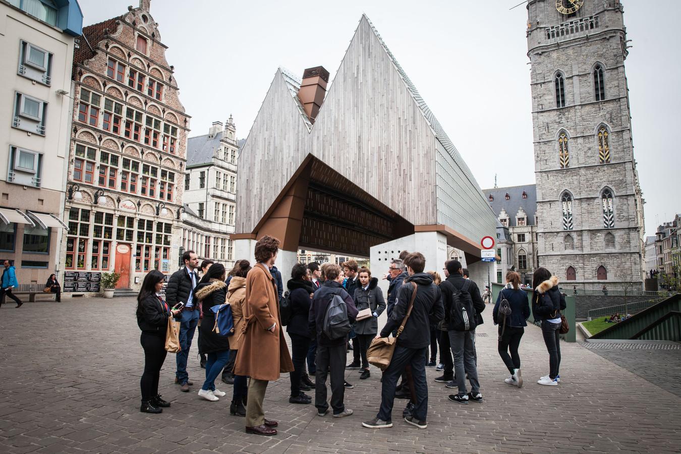 stadshal, Gent, toeristen