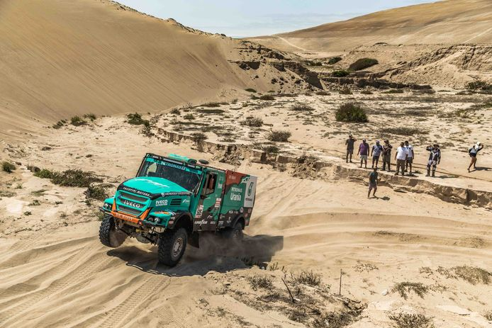 Gerard de Rooy wint de zevende etappe van de Dakar Rally 2019.