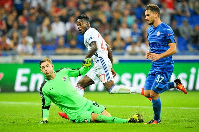 Adrian Semper in zijn debuut tegen Lyon.