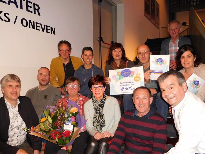 Enkele winnaars van de Rabobank Clubs Campagne.
