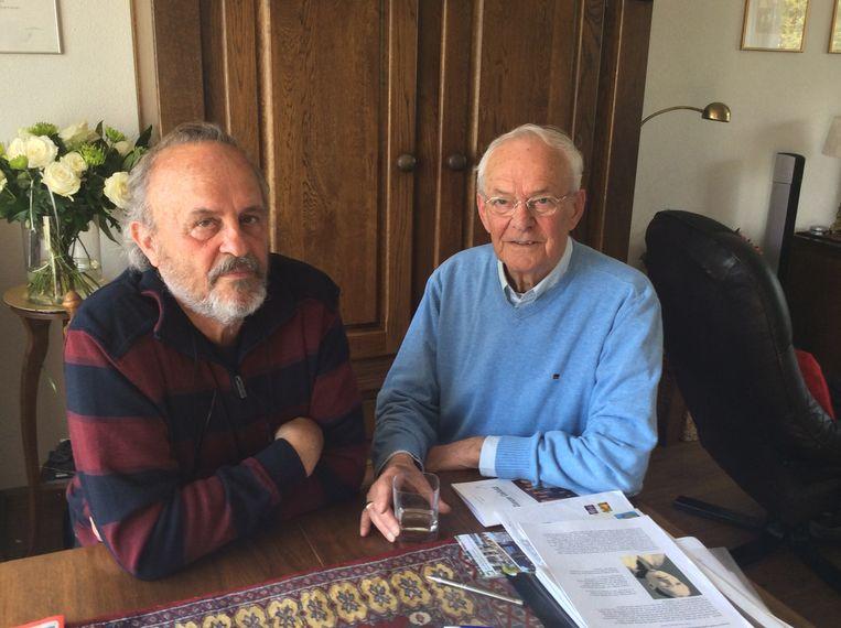 Piet Manders (l) en Wim Boeijen: lange zoektocht in archieven. Beeld .