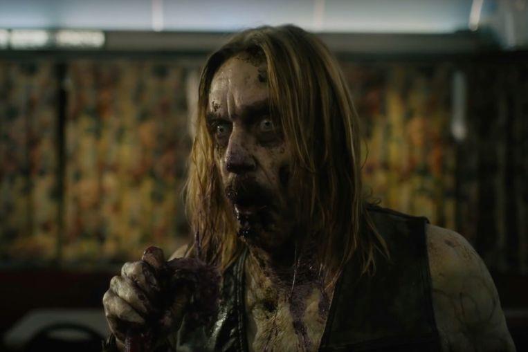 Rockster Iggy Pop als zombie in 'The Dead Don't Die'. Hij had voor zijn optreden als zombie vast geen make-up nodig, zo wordt al gegrapt. Beeld
