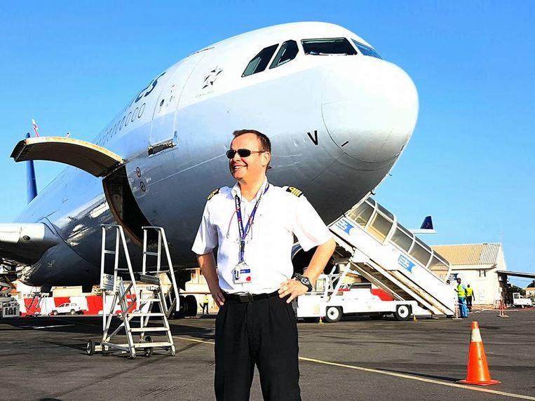 Piloot Filip Bontinck van Brussel Airlines