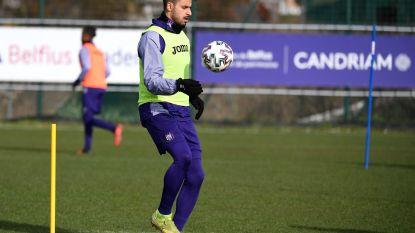 Chadli traint weer mee bij Anderlecht, Joveljic en Cobbaut zijn twijfelachtig voor Eupen