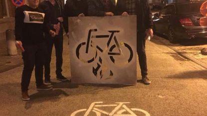 Jong Groen voert actie rond fietspaden
