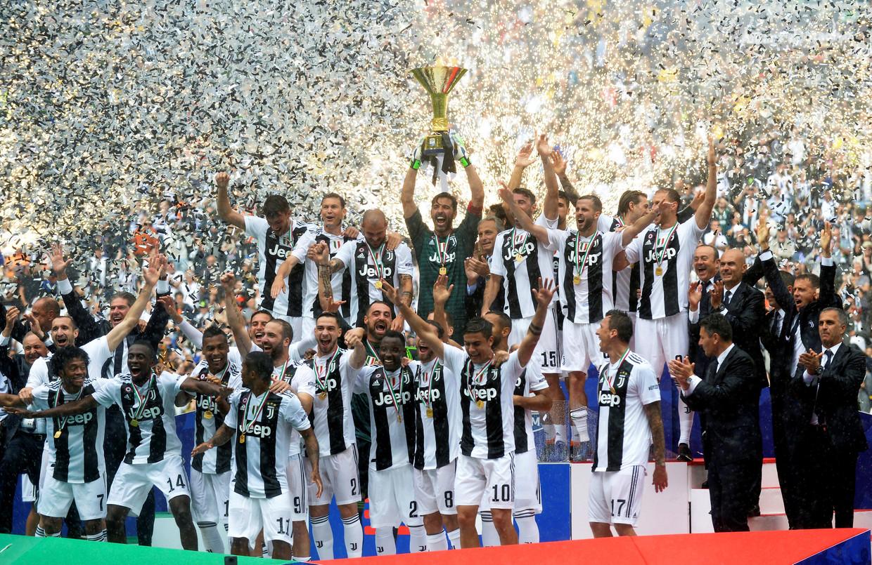 Juventus pakte vorig jaar de Italiaanse cup na 2-1 winst op Hellas Verona. Beeld REUTERS