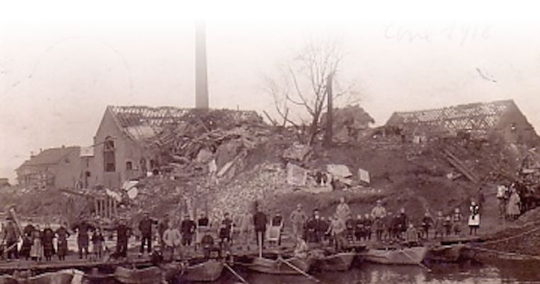 Nederename werd in de Eerste Wereldoorlog zwaar getroffen.