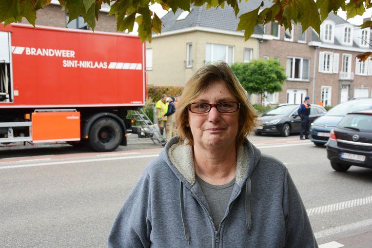 Buurvrouw Carina Van Laere was getuige van de plofkraak.