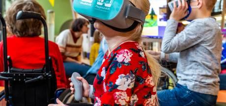 In het ziekenhuis liggen en toch buiten spelen? Met een virtual realitybril wordt dit werkelijkheid voor patiëntjes WKZ
