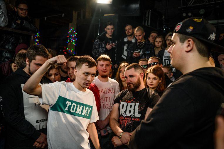 Rap battle in St Petersburg Beeld Foto Yuri Kozyrev
