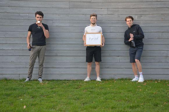 Het team achter Bazar Local, met van links naar rechts: Lukas Geluykens, Laurens Van der Velde en Sebastiaan Van der Velde.